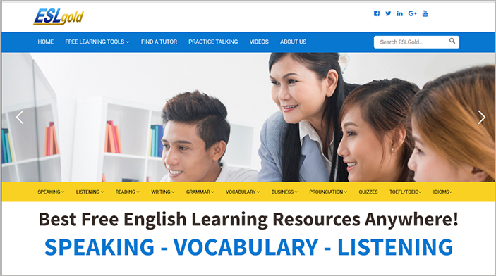 ESLgold.com - The Best English Learning Resources Anywhere